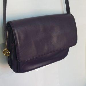 Giani Bernini Leather Flap Bag in Purple